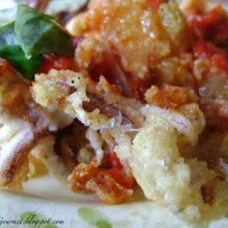 Fried Calamari & Clams with Red Sauce!!