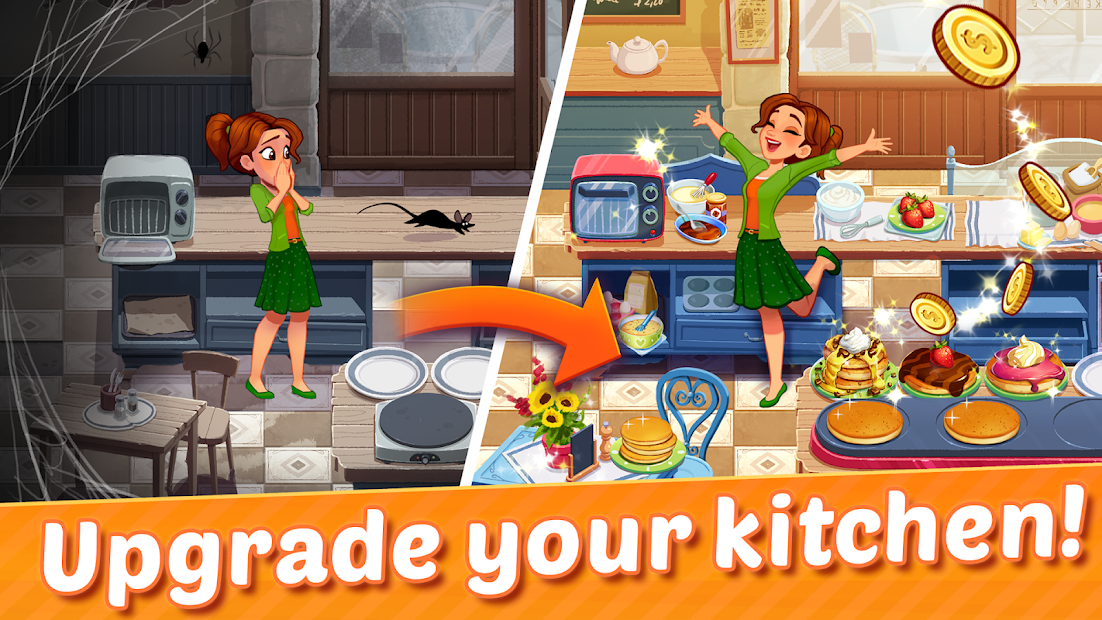Delicious World - Romantic Cooking Game Android App Screenshot