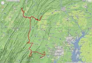 Photo: K8GP / Rover route APRS track - ARRL June VHF 2014