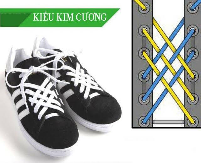 Cách thắt dây giày Vans theo kiểu kim cương 33