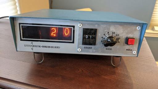 '75 Nixie Multimeter As Digital Dice