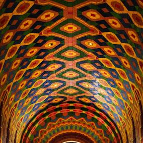 Tiles by Angelica Less - Buildings & Architecture Architectural Detail ( orange, rainbow, art deco, tile, detroit, colorful, architecture )