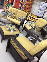 Photo: David and I hope to get a nice patio set someday soon, so we stopped and looked at what Kmart had to offer. They had lots of really nice sets that caught my eye. I'm having a hard time deciding between one like this or one that is more like a dining table.