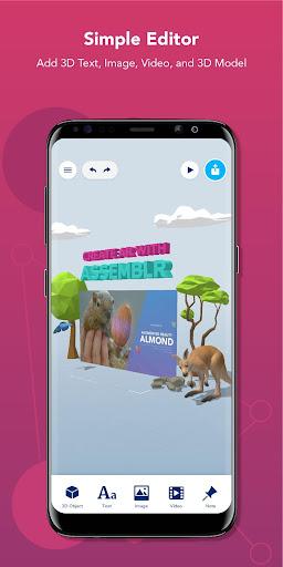 Assemblr - Make 3D Images & Text, Show in AR! 3.309 screenshots 2