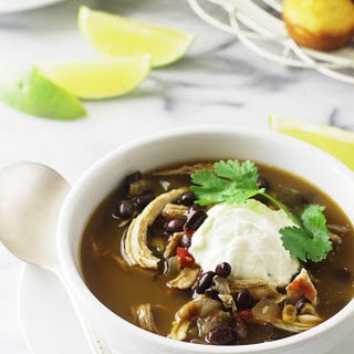 Southwest Black Bean-Chicken Soup.