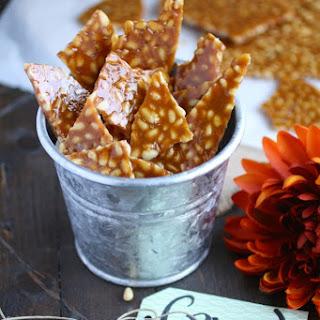 Spicy Pine Nut Brittle