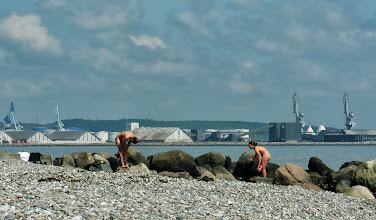Photo: Efter løbe- og svømmeturen, Ballehage, Aarhus