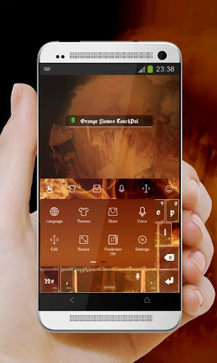 橘黃色的火焰 TouchPal 玩個人化App免費 玩APPs