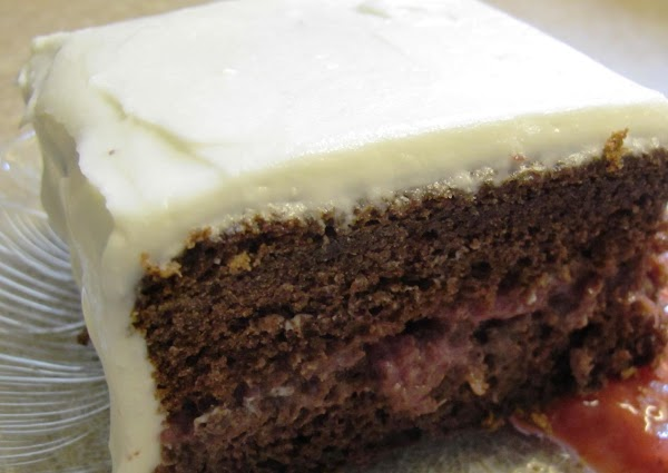 Chocolate Cake With A Strawberry Filling Recipe