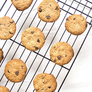Peanut Butter Chocolate Chip Oatmeal Shortbread Cookies.