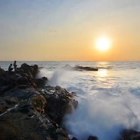 Sunset  Wave by Putu Ekak - Landscapes Sunsets & Sunrises
