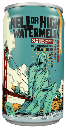 Logo of 21st Amendment Hell or High Watermelon