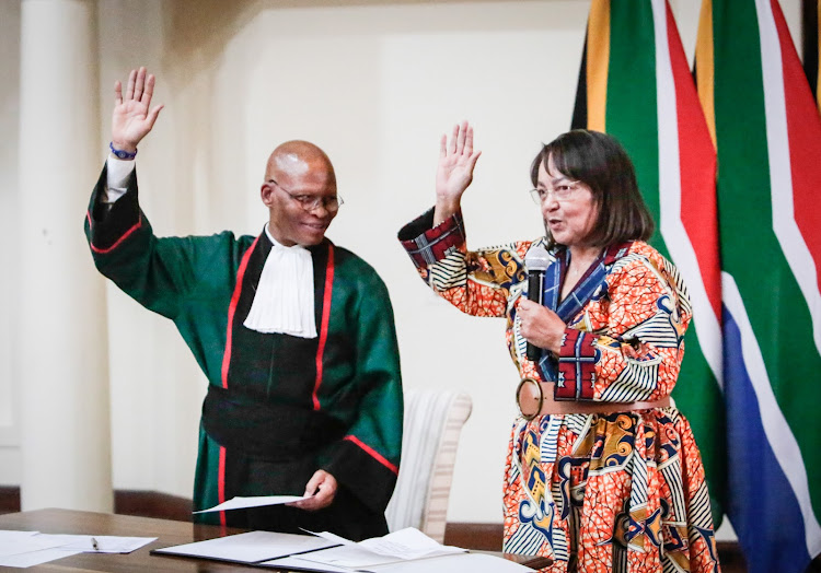Leader of The Good Party Patricia de Lille was sworn in as a Minister of Publlic Works and Infrastructure at the Presidenticial Guest House.