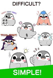 Pesoguin Stickers Free - náhled