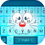 Blue Cat Face Typany Keyboard Icon