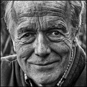 Kasteelheer2  by Etienne Chalmet - Black & White Portraits & People ( street, people, portrait,  )