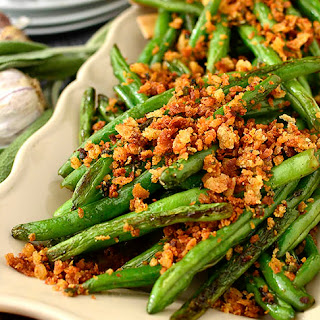 Green Beans with Brown Butter Garlic-Sage Breadcrumbs.