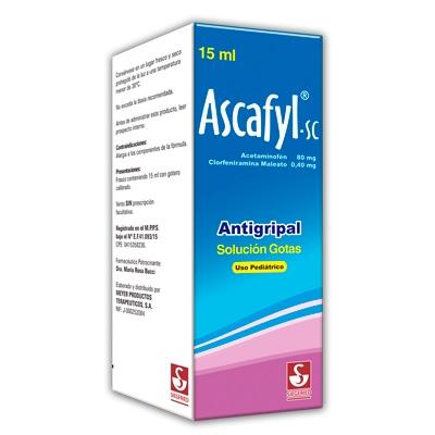 Acetaminofen + Clorprofenpiridamina + Cafeína Ascafyl-SC Gotas Pediátricas 15 mL Meyer