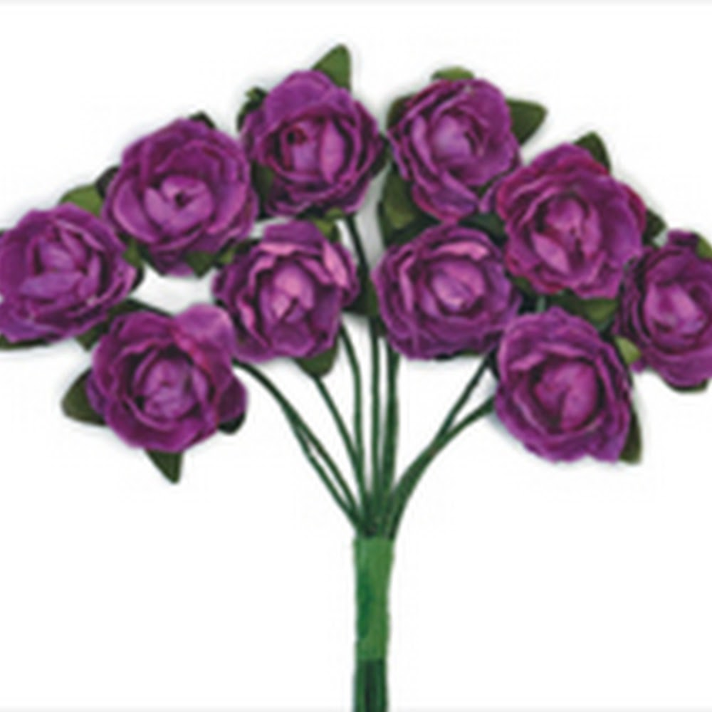 KC-Mini Paper Blooms(Grape)
