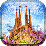 Sagrada Familia in Barcelona Icon