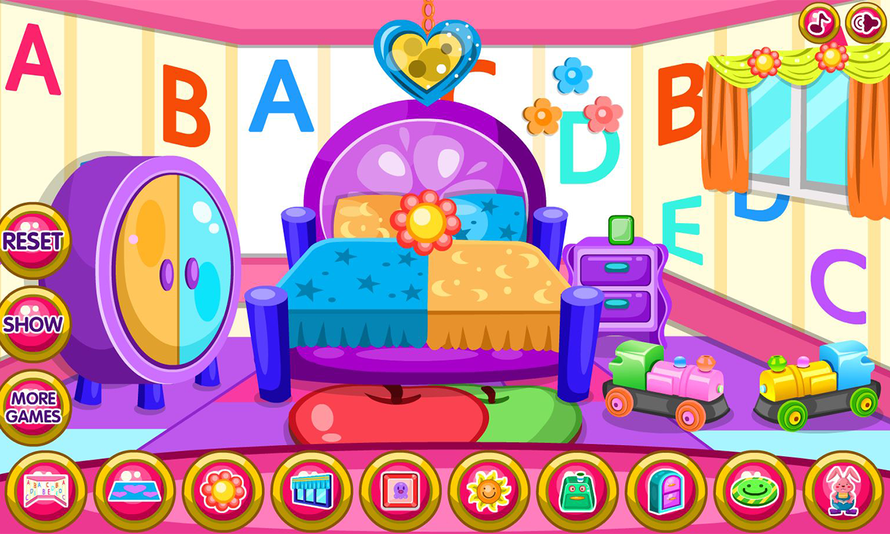 Twin baby room decoration game android apps on google play for Baby decoration games