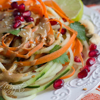 Thai Cucumber Noodle Salad & Dressing Recipe