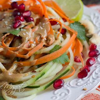 Thai Cucumber Noodle Salad & Dressing.