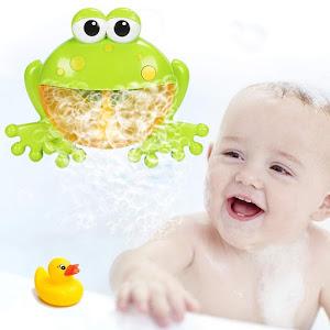 Jucarie muzicala pentru baloane si spuma de baie, Broscuta verde