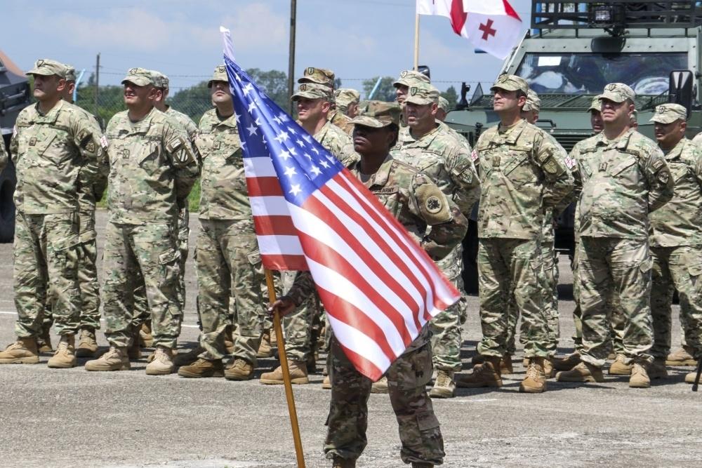 Церемония открытия совместных учений Agile Spirit 2019 с участием военных из США, Грузии и других стран-партнеров. (Фото: DVIDS, Spc. Tori Miller, 124th Mobile Public Affairs Detachment)