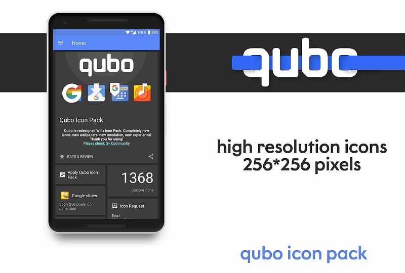Qubo Icon Pack Screenshot 0