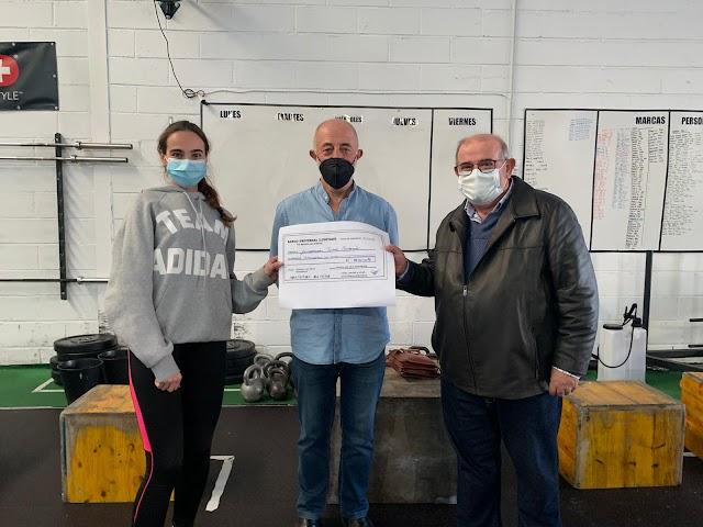 Candela decidió que todo lo recaudado, 801 euros, se destinase a la Fundación Jesús Peregrín.