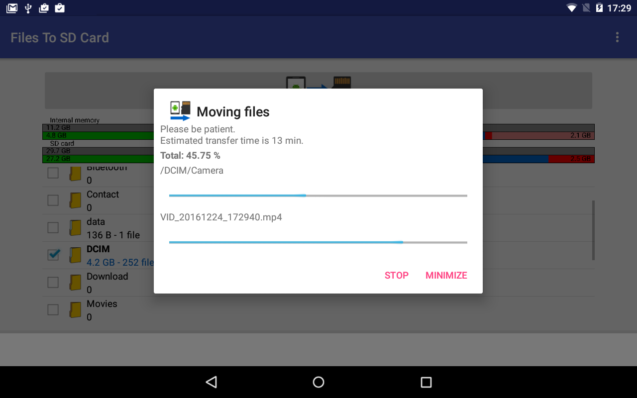 Files To SD Card- screenshot