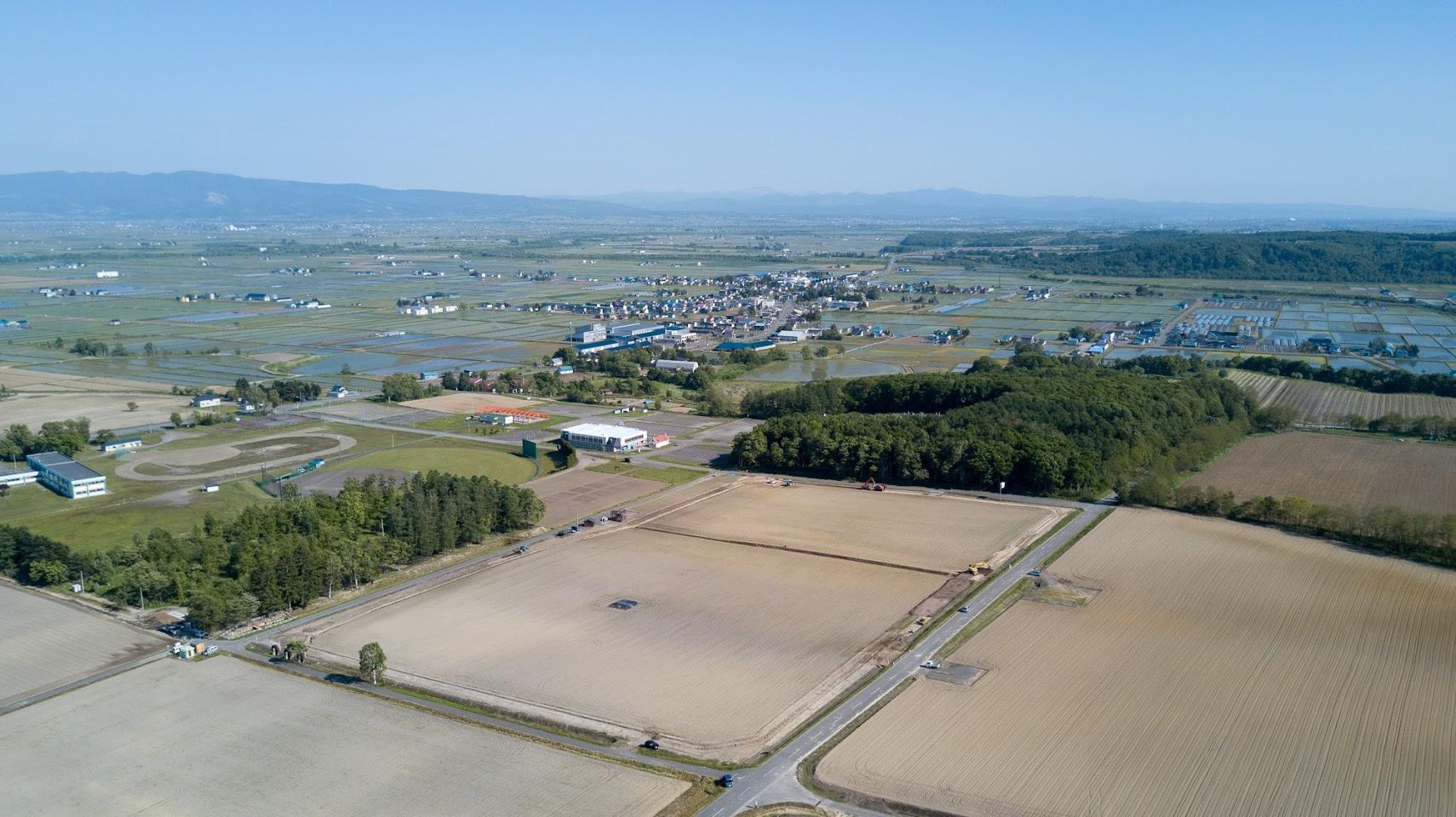 北竜町ひまわりの里(寺内ドローン空撮:2017年6月6日)