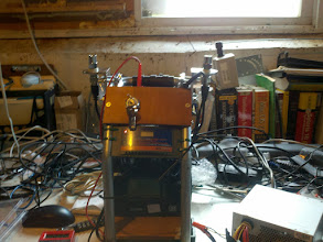 Photo: This shows the rig in charging mode, but unfortunately, the battery is too far dead (<3v) to start taking a charge.