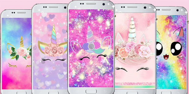 Cute Unicorn Backgrounds Kawaii Wallpapers Apps On Google Play