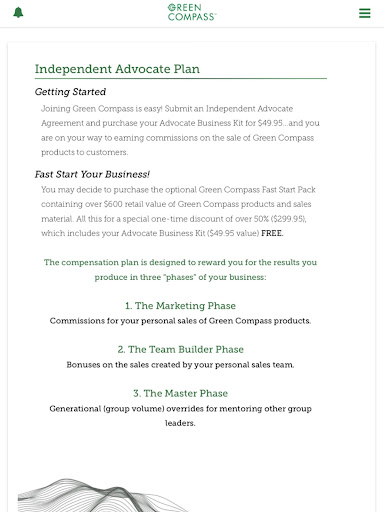 Screenshot for Green Compass in United States Play Store