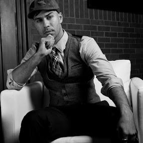 Bilal by Trent Sluiter - People Portraits of Men ( fashion men night club photoshoot )