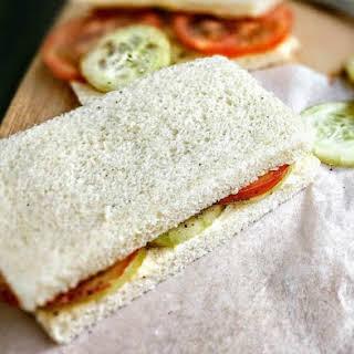 Tomato Cucumber Sandwich.