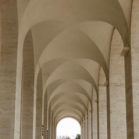 Palazzo della Civiltà Italiana by Kerry Demandante - Buildings & Architecture Architectural Detail ( arches, square colosseum, architecture, eur roma )