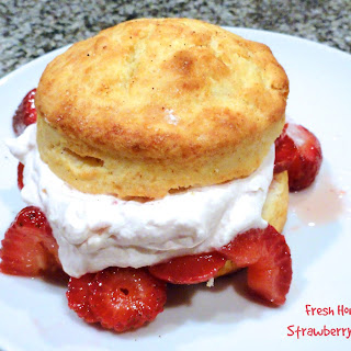 Fresh Homemade Strawberry Shortcake.