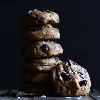Gluten-Free Salted Tahini Chocolate Chip Cookies