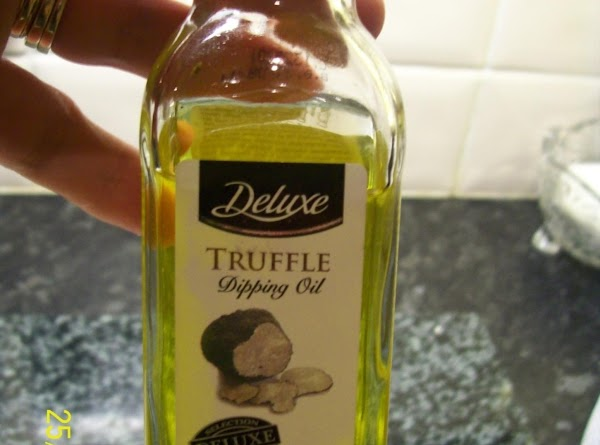 Here is a picture of the Truffle oil ,this is also fantastic over cooked...
