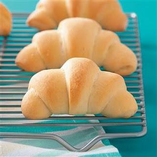 Buttery Crescent Rolls.