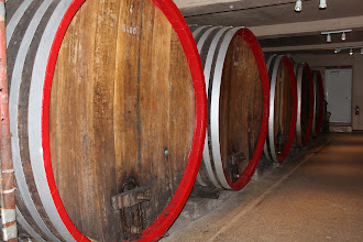 Photo: Wine barrels imported from Europe.