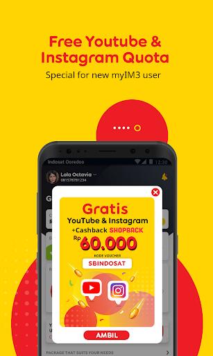 myIM3 - Cek Kuota & Beli Paket Internet v76.2 screenshots 1