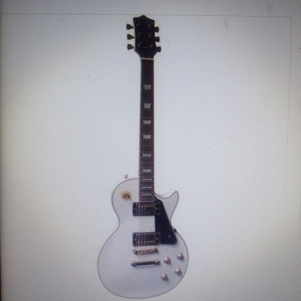 Chitarra elettrica stile Les Paul Bianca