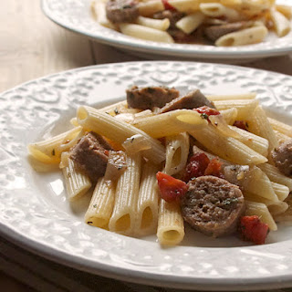 Penne Pasta with Sweet Italian Sausage.