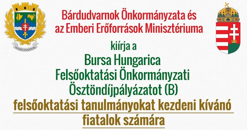 Bursa Hungarica pályázat - leendő felsőoktatási hallgatók 2019