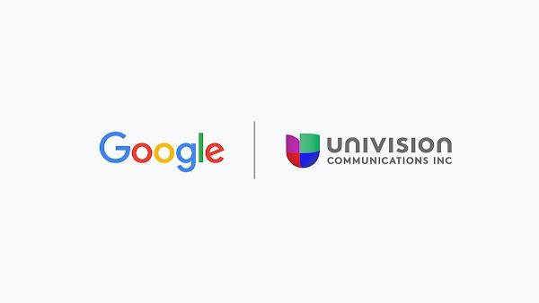 Univision and Google logo