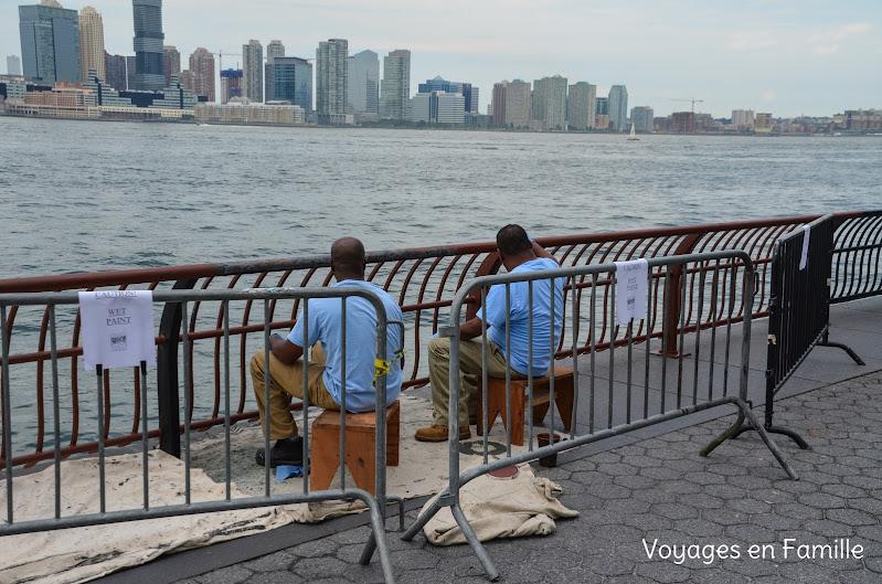 le long de l'Hudson River